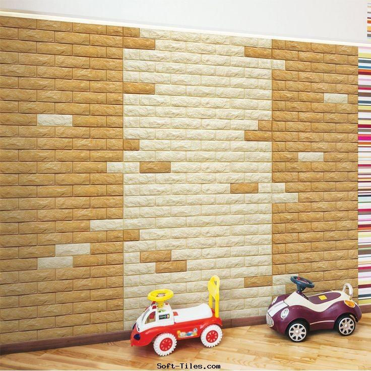 PE Foam 3D Fashion Wall Paper Home Decoration Used
