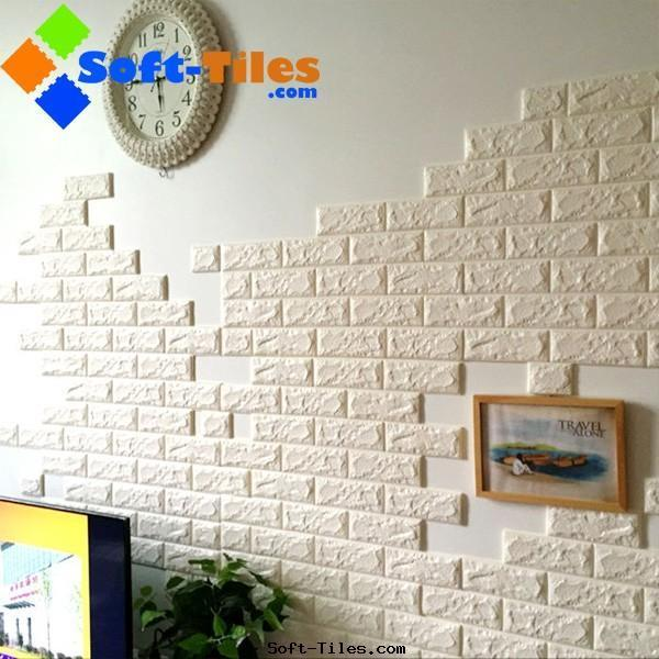 PE Foam 3D wall brick