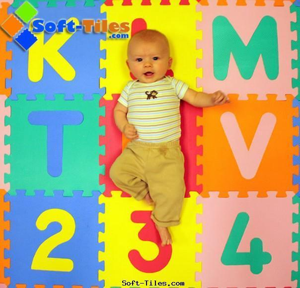 Baby Alphabet mat alphabet in numbers