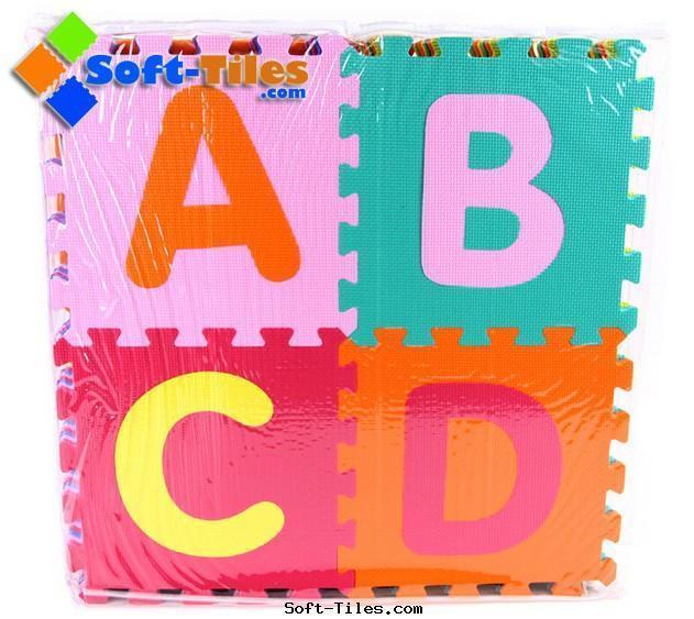 Non-toxic Alphabet Puzzle Mat with Alphabet ABC