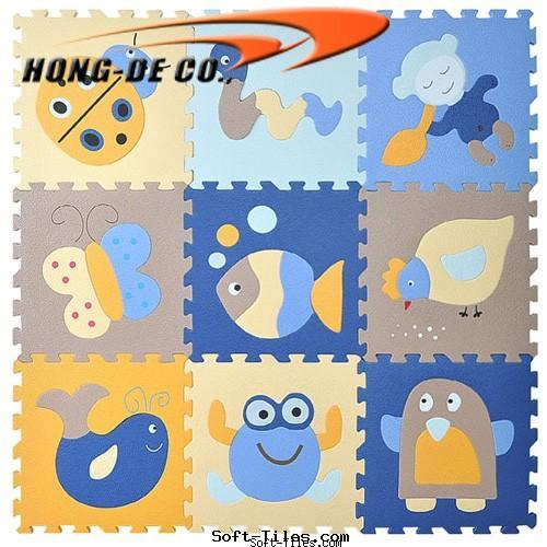 Kid's soft mat with animals