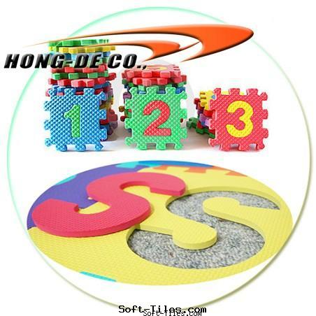 Kid's education mat with numbers