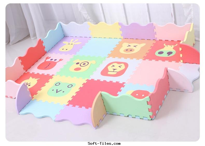 Children play mat with rails Free Formamide