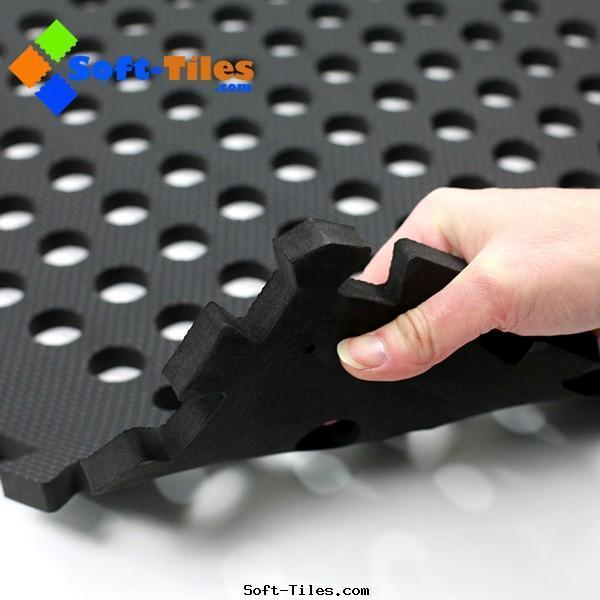 BLACK 60*60cm holes foam eva square interlocking