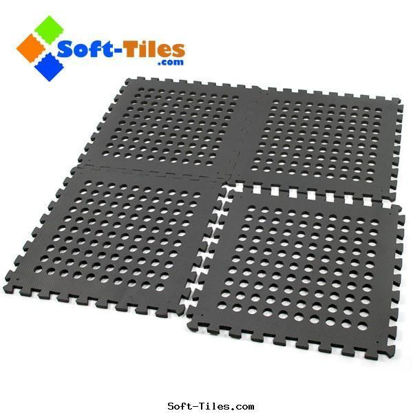 Outdoor FLOORING TILES BLACK 60*60cm camping play