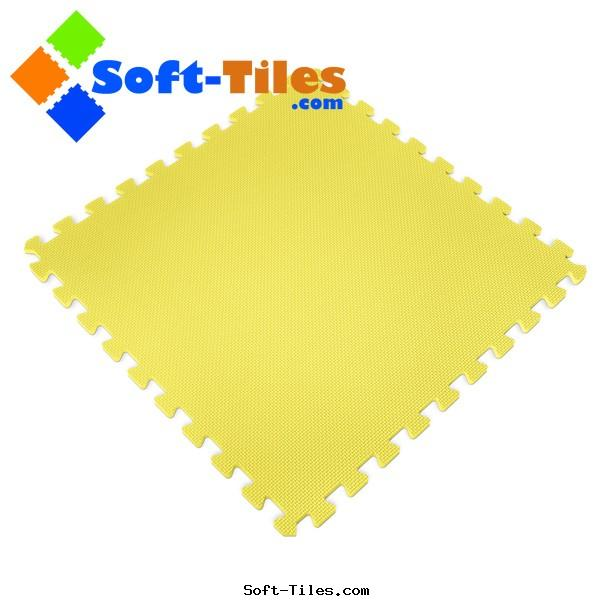 Yellow Foam Mat used kids playground