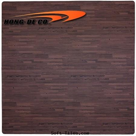 Cherry Wood Grain Foam Floor Mat
