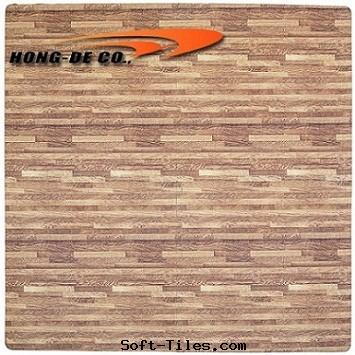 Dark Wood Grain Foam Floor Mat