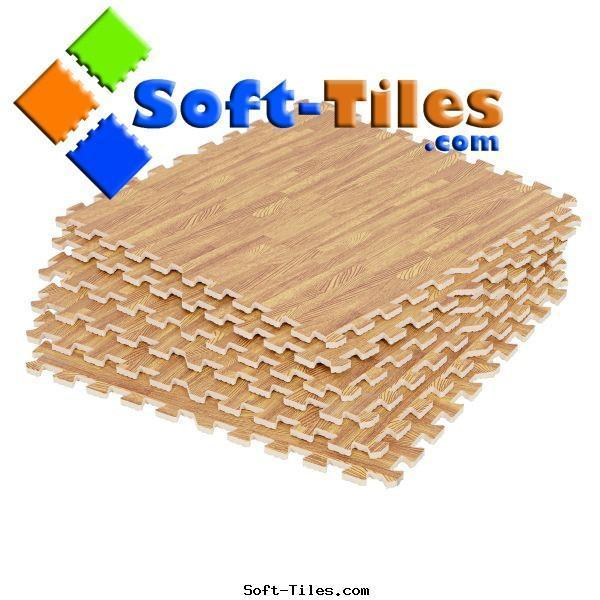 Wood Effecting Foam Floor Mat